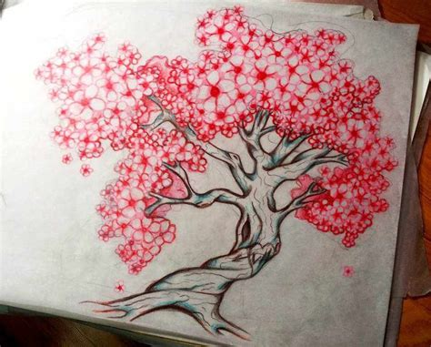 tattoo japanese cherry blossom tree floral chest tattoo design japanese cherry blossom tree