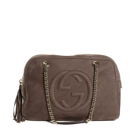 Jeanne Nubuck Medium Bag by Gucci Nubuck Medium Soho Chain Shoulder Bag Grey