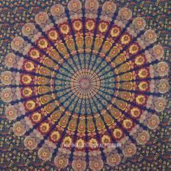 Hippie Bedding Multi Navy Blue Medallion Style Boho Mandala Wall Tapestry