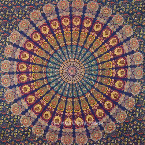 150cmx130cm Boho Wall Carpet Tapestry Mandala Tapestry 9 multi navy blue medallion style boho mandala wall tapestry