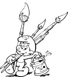 kids 7 smurfs coloring pages