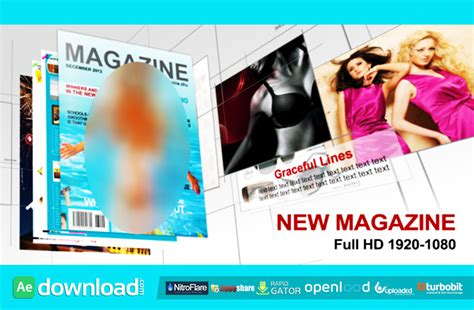 after effects free template magazine new magazine free after effects project videohive