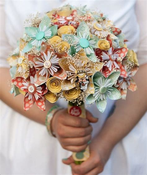 Origami Paper Flowers Wedding - 17 best ideas about paper wedding bouquets on