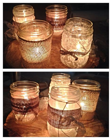 Mason jar wedding decor. For Leah's wedding.   Mason Jars