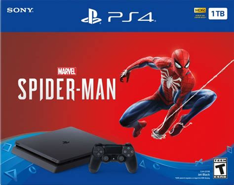 playstation 4 console buy playstation 4 1tb marvel s spider console bundle 199