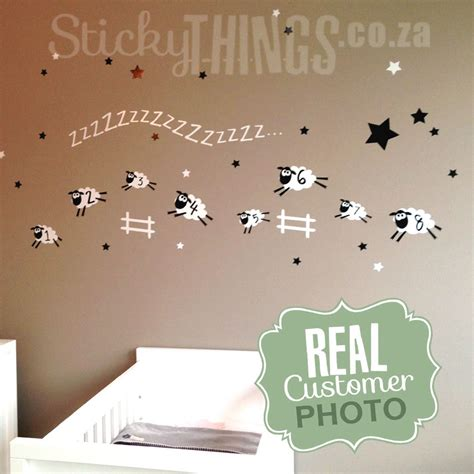 sheep wall stickers sheep baby room wall sticker sheep wall decal