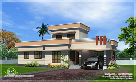 3 Bedroom Plans In Kerala Style 1300 Sq Feet One Floor House Exterior House Design Plans