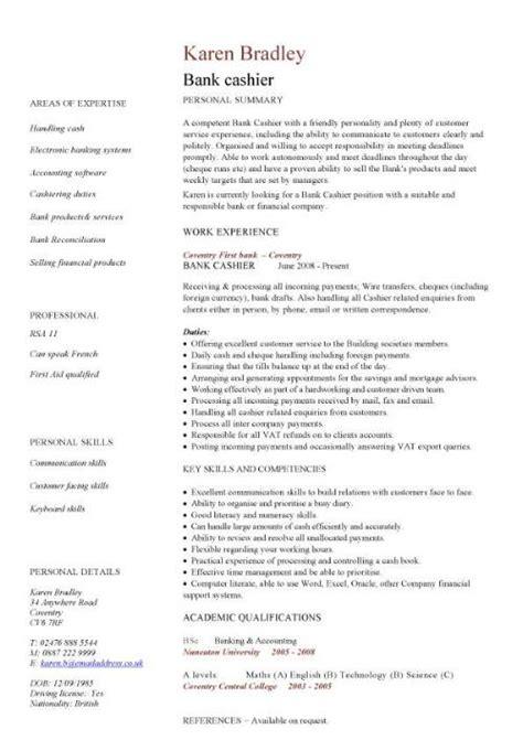 Cv In Cashier Financial Cv Template Business Administration Cv Templates Accountant Financial