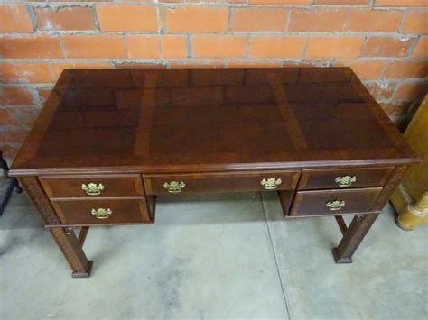 desk with lots of drawers mahogany desk with center and 2 flanking drawers
