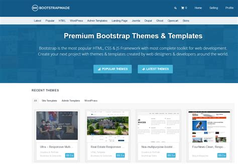 bootstrap themes search 10 best bootstrap themes templates marketplaces to buy