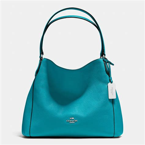 Coach Bag Turquoise by Lyst Coach Edie Shoulder Bag 31 In Refined Pebble Leather In Blue