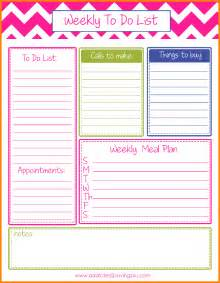 weekly list template 9 weekly to do list template letter template word