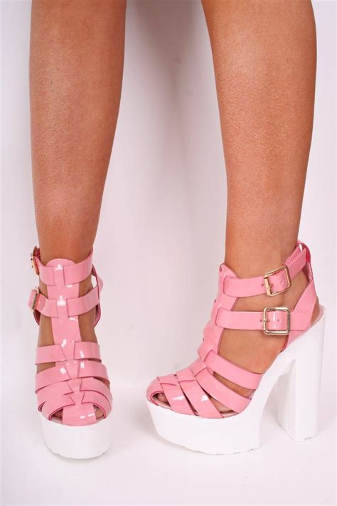 pale pink sandals pale pink patent leather sandals white cleated sole