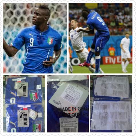 Jersey Italy Original jual jual jersey italy home 2014 2015 balotelli size l