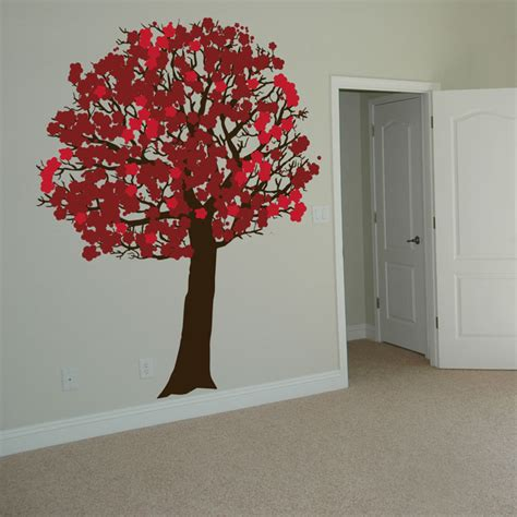 cherry blossom tree wall stickers peaceful cherry blossom tree wall decals