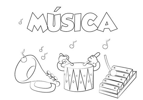 imagenes para pintar musica colorear asignaturas colorear e imprimir