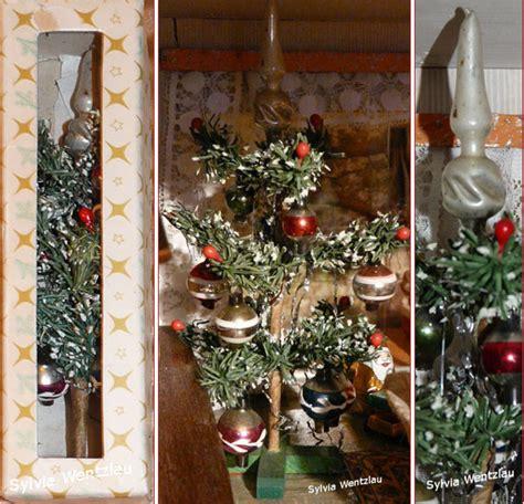 weihnachtsbaum mit ddr lametta antike weihnachtsb 228 ume f 252 r die puppenstube
