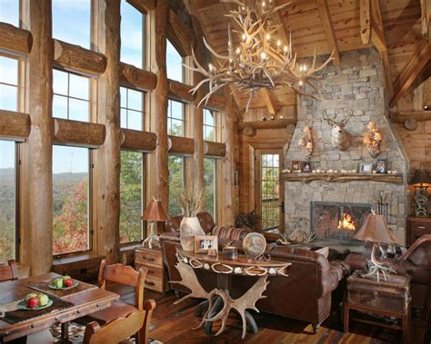 rustic great room turkey lodge great room entry rustic living