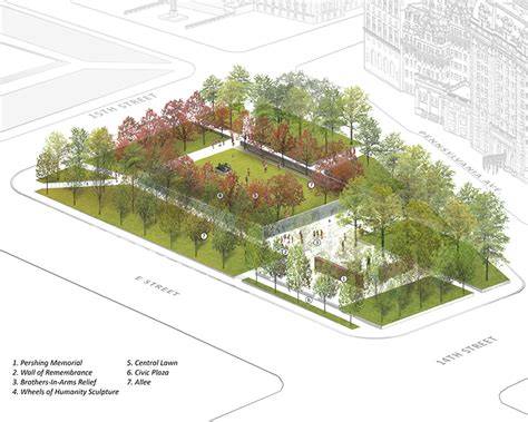 design concept memorial park winning design concept for the national world war i