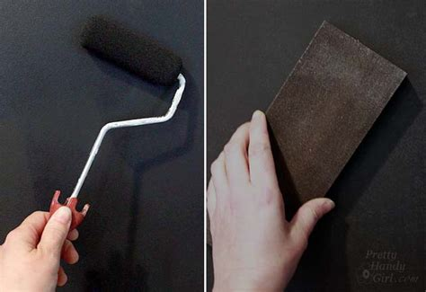 chalkboard paint roller how to make a smooth chalkboard wall for imperfect walls