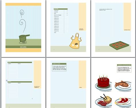 4 recipe book template outline templates