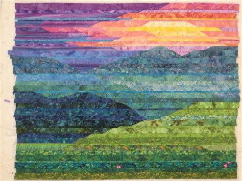 Landscape Quilts Simple Strippy Landscape Tapestry Weaving