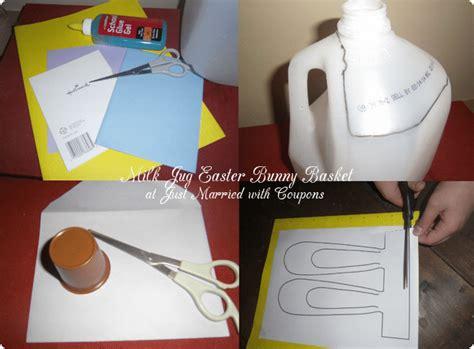 milk jug crafts for milk jug easter bunny basket craft cutefetti
