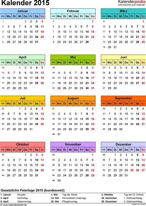 Kalender 2015 Zum Ausdrucken Kalender 2015 Zum Ausdrucken Als Pdf 16 Vorlagen Kostenlos