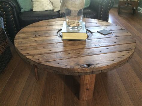 spool coffee table wire spool coffee table by southernpallet on etsy