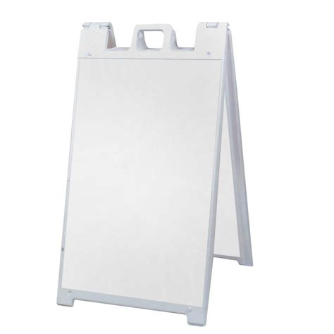 sign stands signicade 25 in x 45 in plastic easel shaped sign stand