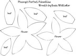 poinsettia template 9 best images of poinsettia flower template printable