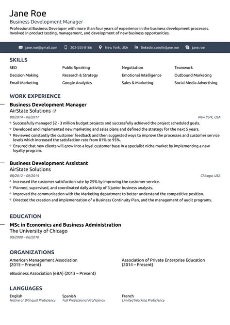 Simple Professional Resume Template best 25 simple resume template ideas on