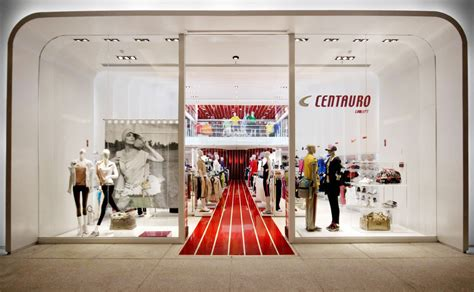 layout plan of garment showroom centauro concept store aum arquitetos archdaily brasil