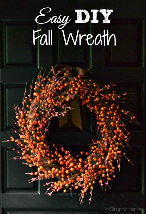 how to make a fall wreaths for front door easy diy fall wreath
