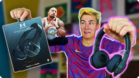 dwayne johnson the rock headphones dwayne the rock johnson made headphones youtube