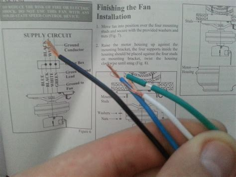 Ceiling Fan Green Wire by Electrical How Do I Wire This Ceiling Fan Home