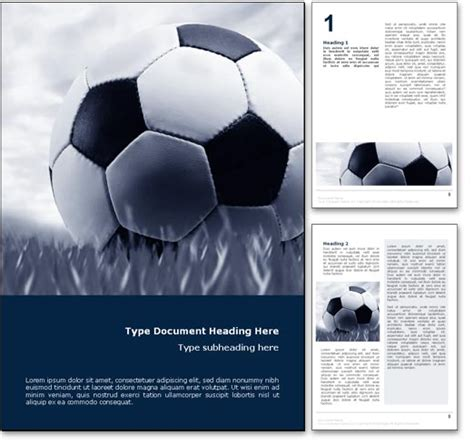 soccer template soccer word template in blue