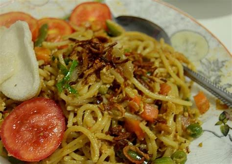 resep spaghetty goreng kampung oleh selma wahida cookpad