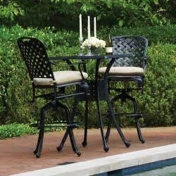 Outdoor Balcony Furniture Provance Cast Aluminum Bar Height Patio Furniture By