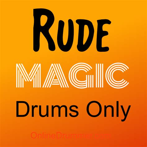 tutorial drum rude rude magic drum sheet music onlinedrummer com