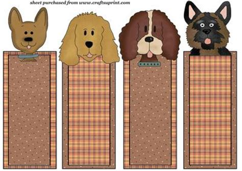 printable bookmarks of dogs 4 pet dog bookmarks dl toppers set 3 cup192045 539