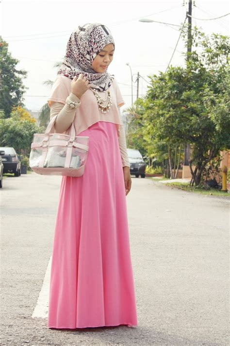 Dress Wanita Dress Muslim Wanita Naira Dress Pink Balotelly 17 best images about muslimah fesyen on