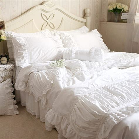 lace coverlet bedding luxury embroidered bedding set wrinkle fold satin lace bed