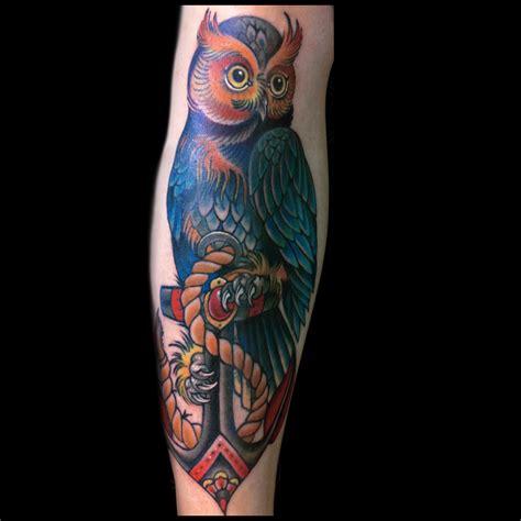 tattoo owl anchor tattoos jessi lawson artist