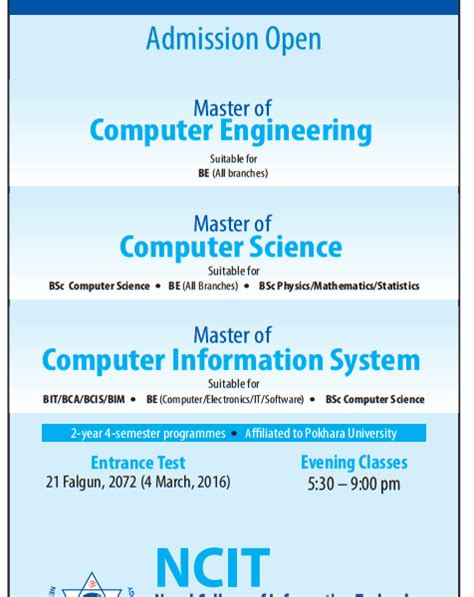 Mba Or Masters Computer Information Systems by Take Your Career To The Next Level Master Of Computer