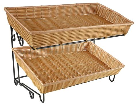 basket display rack basket display stands metal rack with 2 baskets