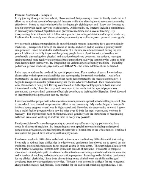 personal statement template sles personal statement