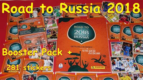 Rd Original New Stiker road to russia world cup booster box panini sticker unboxing box 5 packs 281 new stickers