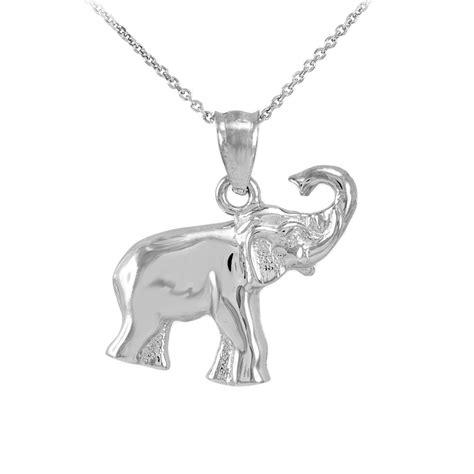 sterling silver baby elephant charm pendant necklace ebay