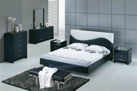All About Home Decoration Furniture Modern Minimalist White Bedroom Black Furniture